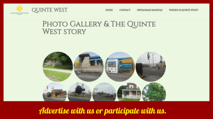 Advertise with us! Quinte West Arts & culture forum