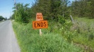 D-1 Ends sign Frankford Ontario